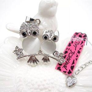 Betsey Johnson owl necklace, NWT